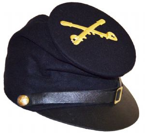Union Blue Forage Cap With Cavalry Badge & McDowell Peak